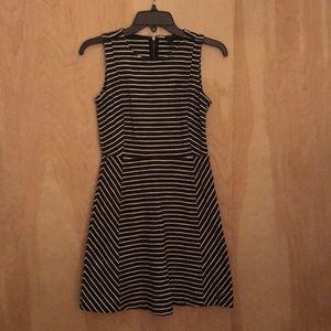 J. Crew Striped Cotton Skater Dress